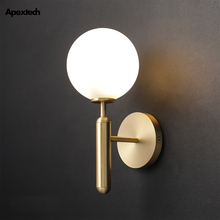 Postmodern Luxury Copper Wall Lamp Bedroom Living Room Deco Light Romantic Hotel Bedside Night Lights Include LED Bulb