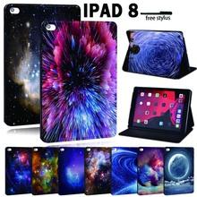 Dla Apple iPad 8 10 2 #8222 2020 (8 Generacji) A2428 A2429 PU skórzany Tablet stojak Folio Cover-ultra-cienki Star space Slim Case tanie tanio FINDING CASE Osłona skóra CN (pochodzenie) For iPad Drukuj 17 4cm Moda For Apple iPad Odporny na wstrząsy Odporność na spadek