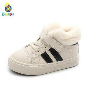 Image 2 - أحذية الأطفال أحذية الثلوج للأطفال 1 3 سنوات من العمر أحذية الفتيات المخملية 2020 أحذية جديدة للأطفال الأولاد أحذية الشتاء أحذية المشي الأولى للأطفال