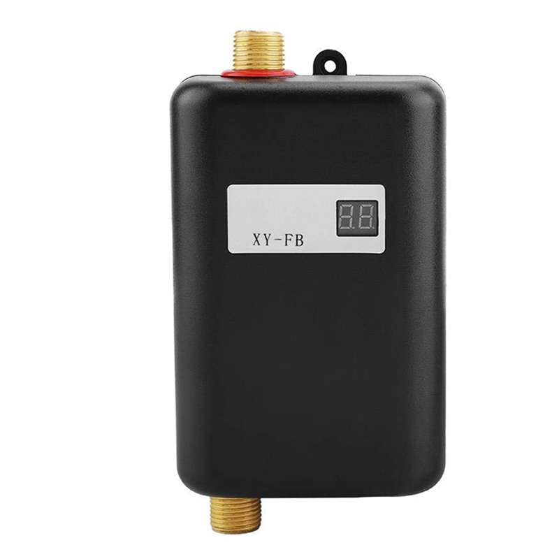 3800W Mini Electric Water Heater Instant Electric Water Heater Instant Electric Water Heating Shower 3 Seconds Hot EU Plug
