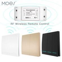 433Mhz sans fil commutateur intelligent RF télécommande récepteur bouton poussoir contrôleur mur panneau émetteur, 2 voies/3 voies multi contrôle