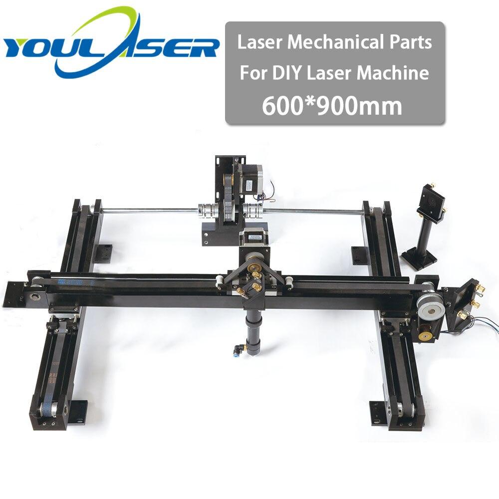 DIY Co2 Laser Engraving Cutter Machine Parts Set 600*900mm Size Mechanical Laser Spare Parts Kit