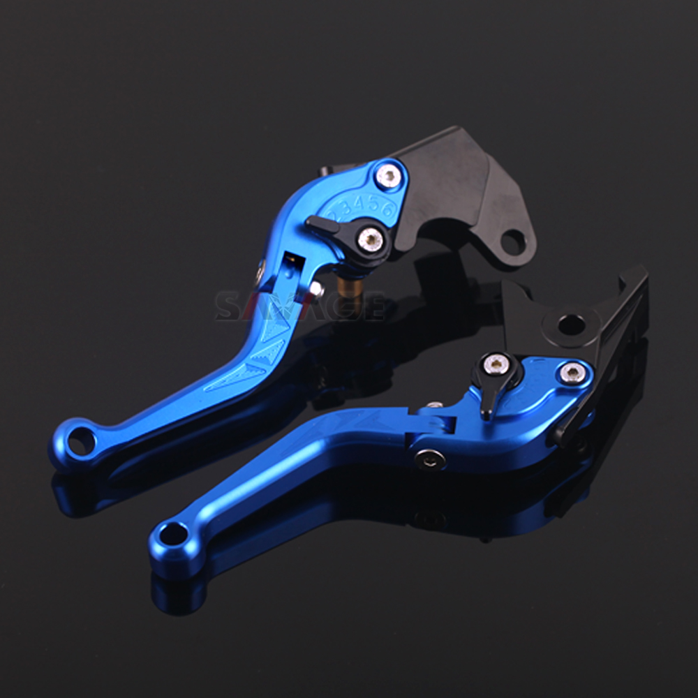 Short Foldable Brake Clutch Levers For <font><b>SUZUKI</b></font> <font><b>GSX</b></font>-R <font><b>GSX</b></font> R GSXR 600 <font><b>125</b></font> 150 250 750 1000 GSXR Motorcycle Accessories Foldaway image