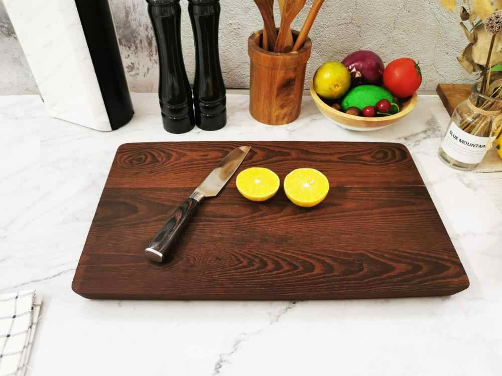 Carbonized Ash Wood Cutting Board Best Kitchen Chopping Board For Meat Butcher Block Cheese And Vegetables Aliexpress
