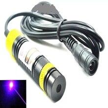 Регулируемый 405 нм 200 мВт лазер диод модуль +высокая мощность свет NO адаптер 16x68 мм