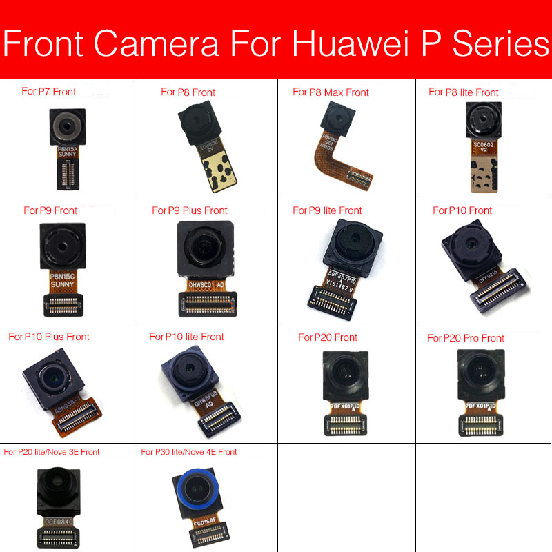 Front Camera For Huawei Nova 3e 4e P7 P8 P9 G9 P10 P20 P30 Pro MAX Plus Lite Facing Samll Camera Flex Cable Replacement Parts