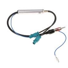 Antena de Radio especial para coche, amplificador de señal de Audio AM/FM de 18,1 pulgadas, Cable Dual Fakra, daptor aéreo de 12V para Audi, VW, BMW