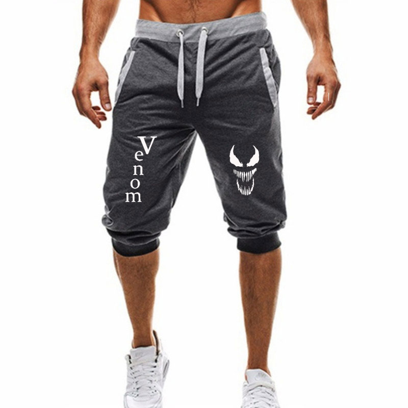 New Fashion Shorts Men Sporting Jogging Venom Cotton Bodybuilding Sweatpants Fitness Short Jogger Casual Summer Men Shorts