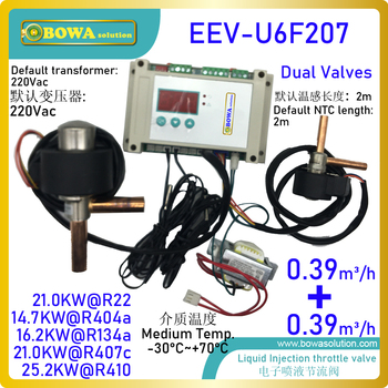 Electronic high temperature expansion valve controls motors and lubricant oil temperature rise to improve compressor protection