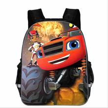 Teenager Cartoon Blaze And The Monster Machine Print Backpack Boys School Bags P