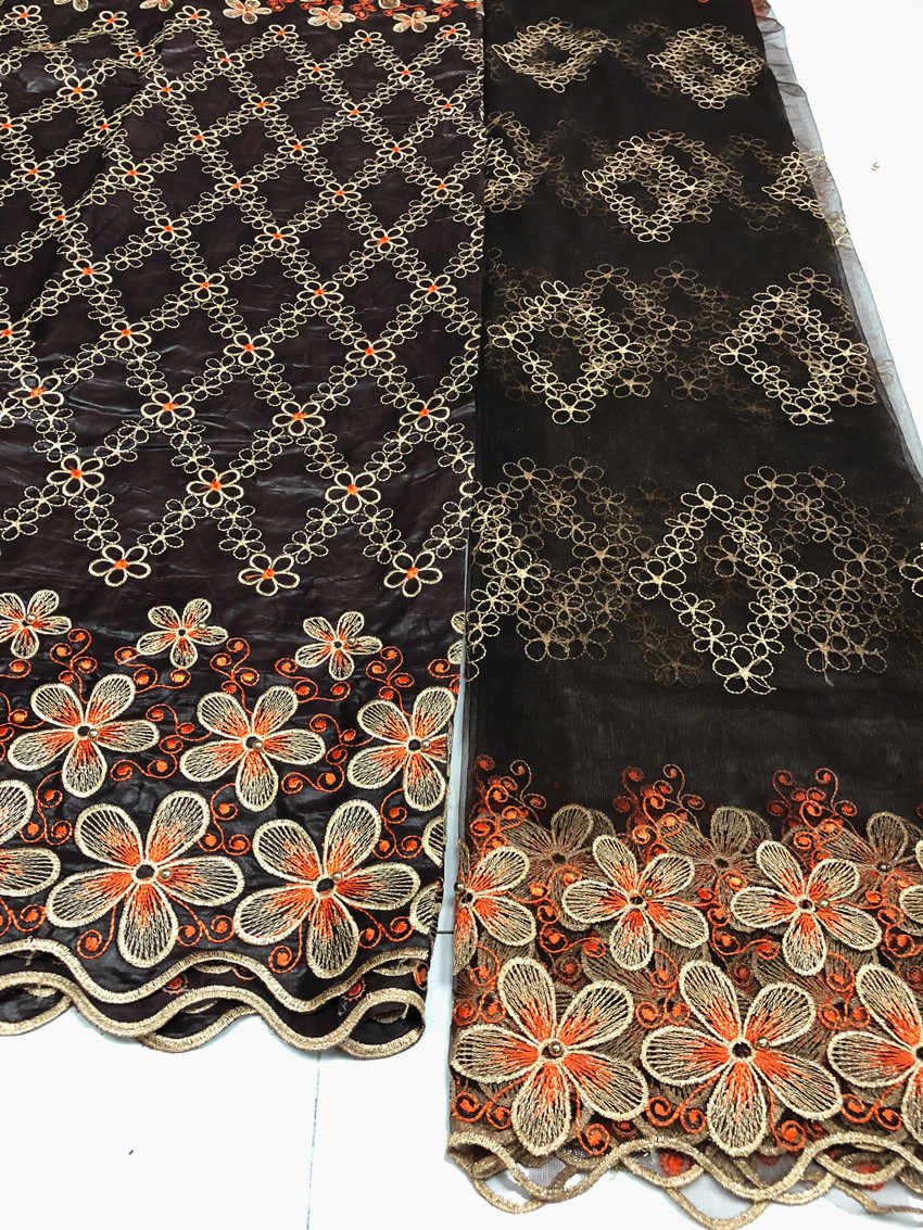 LIULANZHI Rosso tessuti africani del merletto di Modo del ricamo bazin riche getzner con perline nigeriano bazin tessuto di pizzo 7 metri XB64