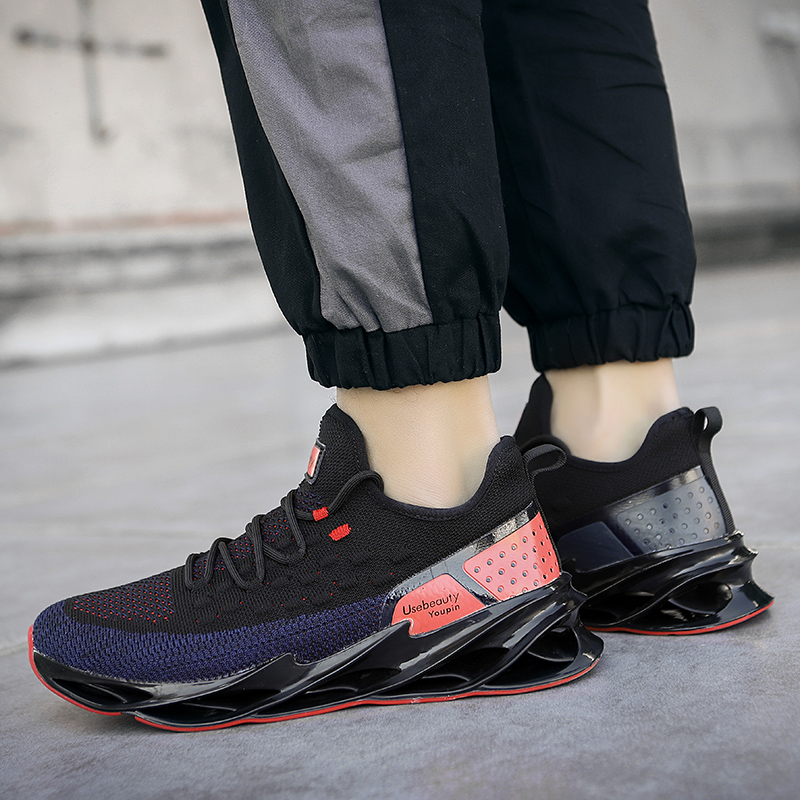 2020 Mesh Sneakers Shoes Men Breathable Increasing Casual Men Shoes Lace-up Outdoor Non-slip Walking Men Sport Shoes Big Size 46