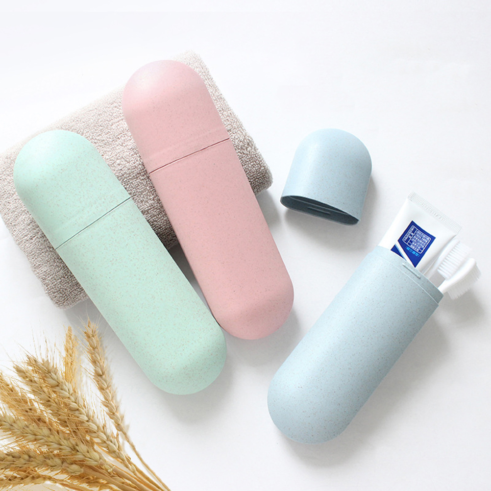 Portable Toothbrush Cases Travel Toothpaste Box Nordic Tooth Brush Holder For Travel Camping