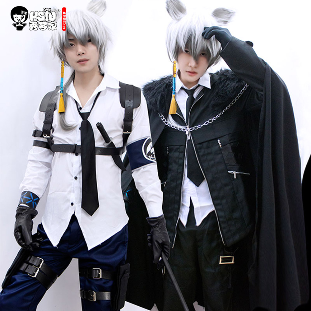 HSIU SilverAsh Cosplay Full Suit ,Game Arknights Clothing ,Cosplay Boy Clothing,Boss Cosplay Handsome Cloak