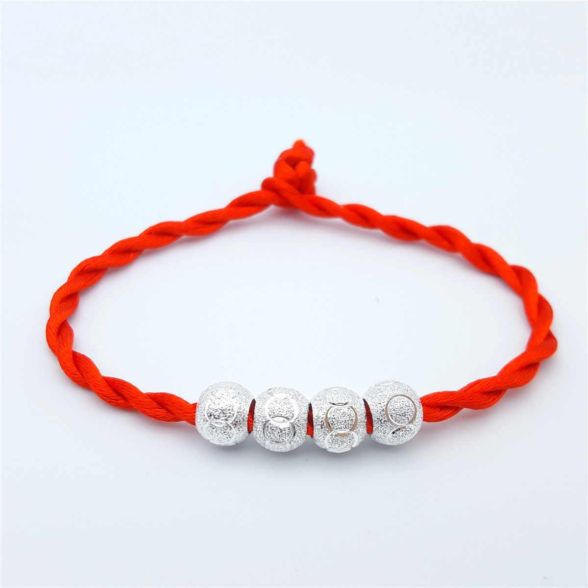 Küçük hediye üreticileri toptan kırmızı halat bilezik severler 925 gümüş başına ömürlü kırmızı el ipi hediye hediye küçük hediye