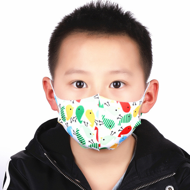 For 4-12 Years Old Kids Mouth Mask Cartoon Printed Dust Children Face Masks Washable Reusable Student Kids Mouth Child Face Mask 1