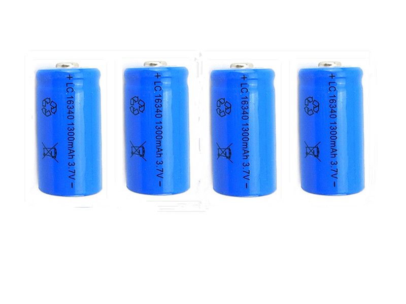 High quarity 10X 3 7V 1300mAh 16340 Li ion Rechargeable Batteries CR123A for Laser Pen LED Flashligh in Replacement Batteries from Consumer Electronics