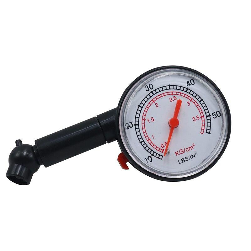 1pcs Tire Pressure Monitoring System 0-50 Psi Tire Pressure Gauge Dial Meter Wheel Air Pressure Tester For Auto Motor Car Truck