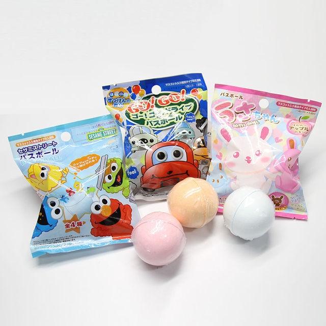 Japanese cartoon bath ball children bath ball toy bath agent bubble bath ball 5