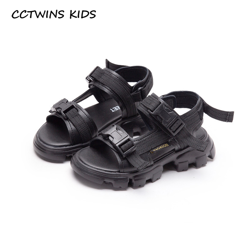 CCTWINS Kids Shoes 2020 Summer Children Genuine Leather Flat Baby Girls Brand Beach Sandals Boys Fashion Soft Shoes BS521