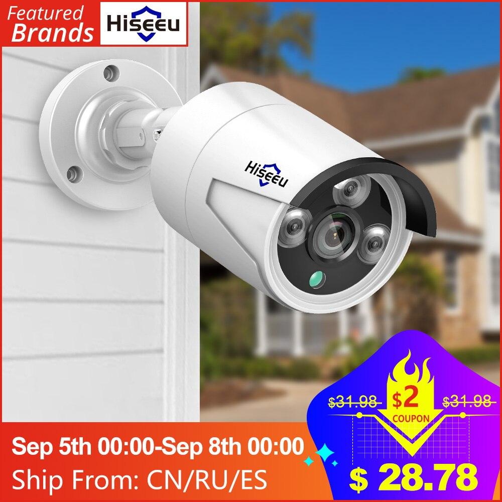 Hiseeu H 265 Audio Security IP Camera POE 5MP ONVIF Outdoor Waterproof IP66 CCTV Camera P2P