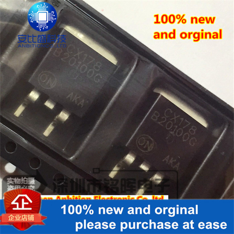 10pcs 100% New And Orginal MBRB20100CTG B20100G TO263 20A 100V Schottky Diode In Stock