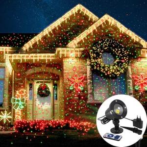 Image 1 - לייזר מקרן שמיים כוכבים אורות חג המולד אדום ירוק סטטי נצנץ מקרן אורות מסיבת גן נוף LED שלב אור