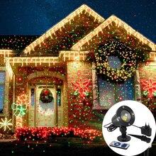 Laser Proiettore Sky Stelle Luci Di Natale Rosso Verde Statico Proiettore Scintillio Luci di Festa in Giardino di Paesaggio HA CONDOTTO LA Luce Della Fase