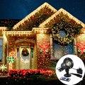 Proyector láser cielo estrellas luces Navidad rojo verde estático centelleante proyector luces jardín fiesta paisaje LED Luz de escenario