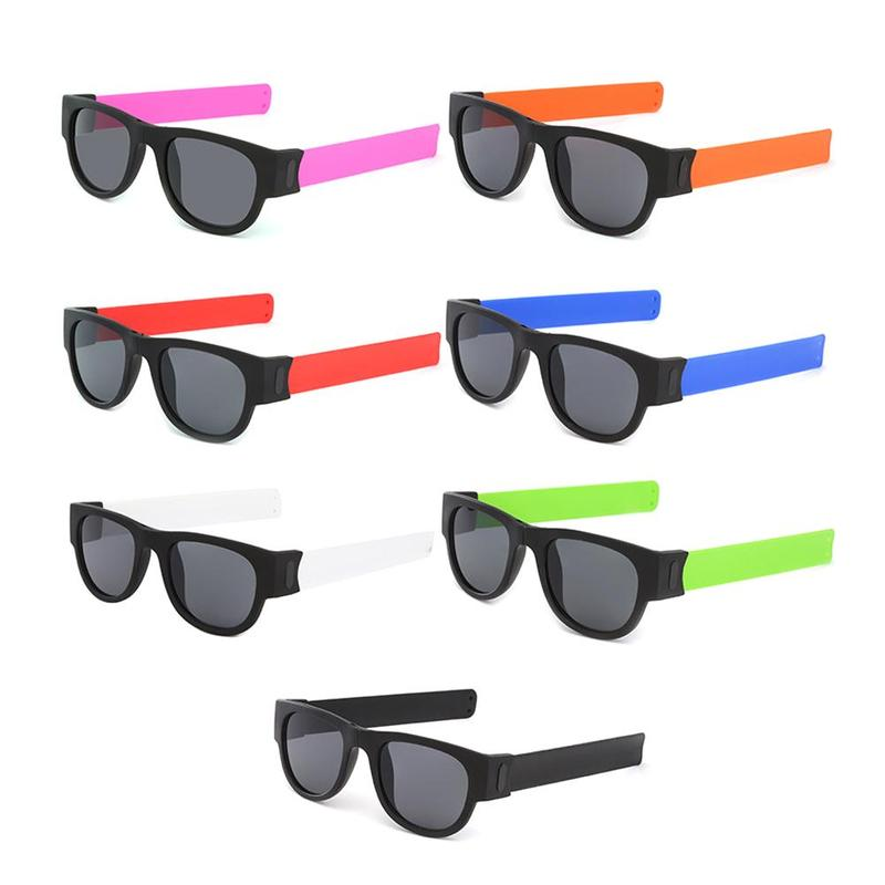 Men Polarized Wrist Sunglasses Folding for Women Roll Bracelet Trend Foldable Sun Glasses