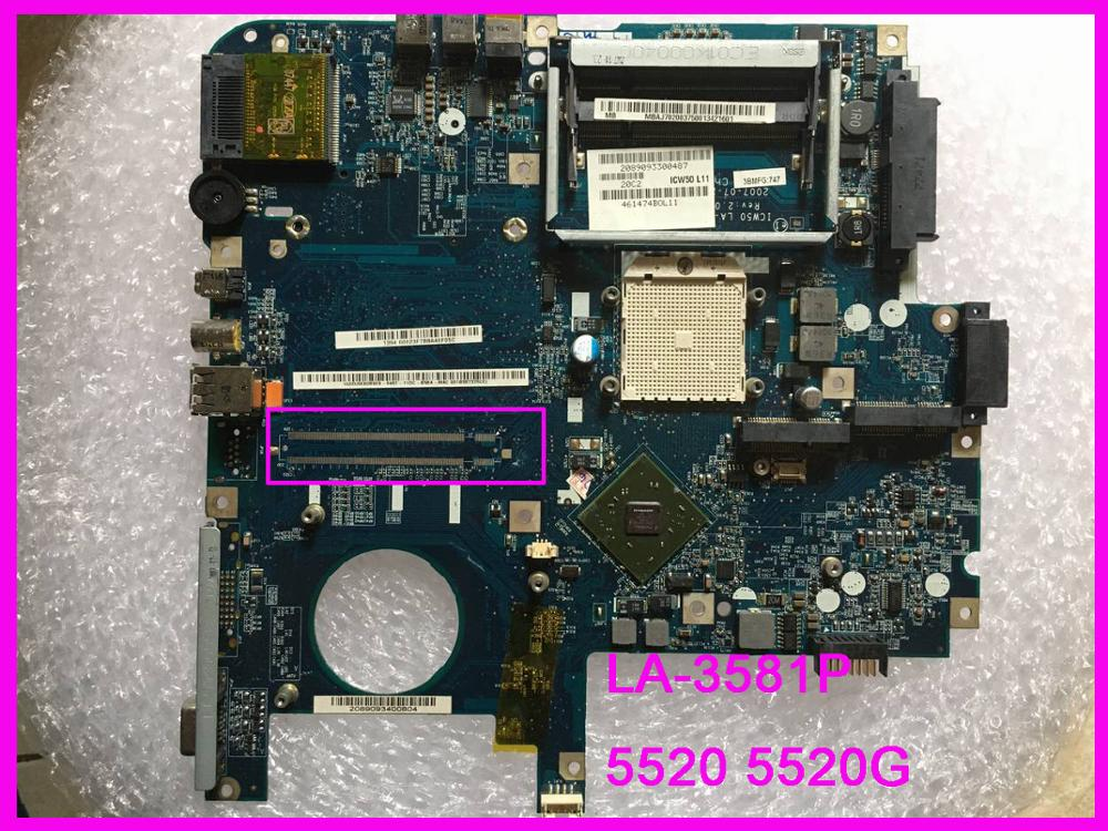 ICW50 LA-3581P Fit For Acer Aspire 5520 5520G Laptop Motherboard MB. AK302.005 MB. AK302.002 Tested Good