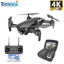 Teeggi M69 FPV Drone 4K with 1080P Wide-angle WiFi Camera HD Foldable RC Mini Quadcopter Helicopter VS VISUO XS809HW E58 X12(China)