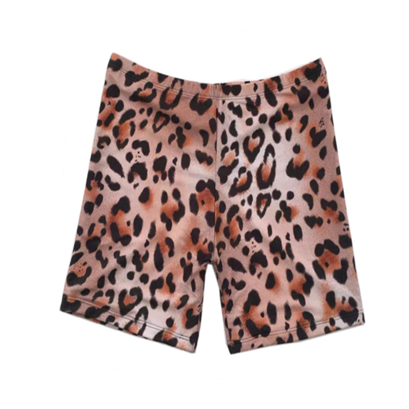 2019 Summer New Style WOMEN'S Swimming Trunks Europe And America-Slimming Large Size High-waisted Leopord Pattern Printed Swimmi