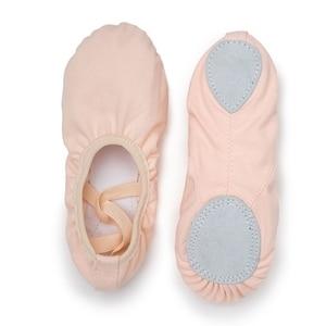Image 4 - USHINE weiß qualität volle gummiband Ausübung Schuhe Yoga Hausschuhe Gym Kinder Ballett Tanz Schuhe Mädchen Frau Kinder ballerina