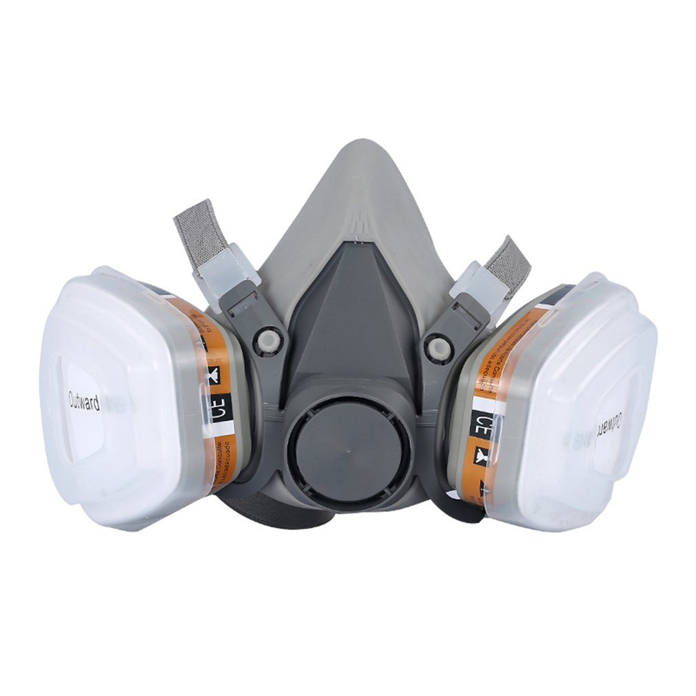 Industry Half Face Paint Spray Gas Mask Respirator Protective Safety Work Dust Proof  Respirator  Mask  With Filter