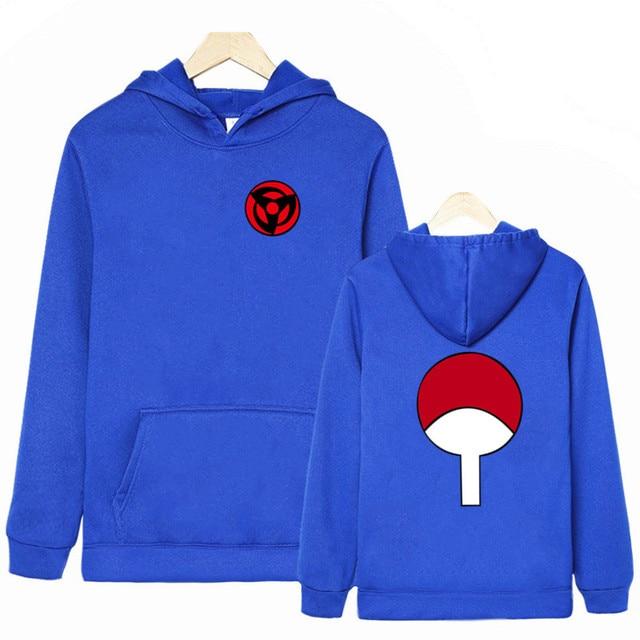 2019 dernière conception NARUTO sweats à capuche Uchiha Syaringan à capuche garçons mode Hokage Ninjia hommes Style Anime Streetwear