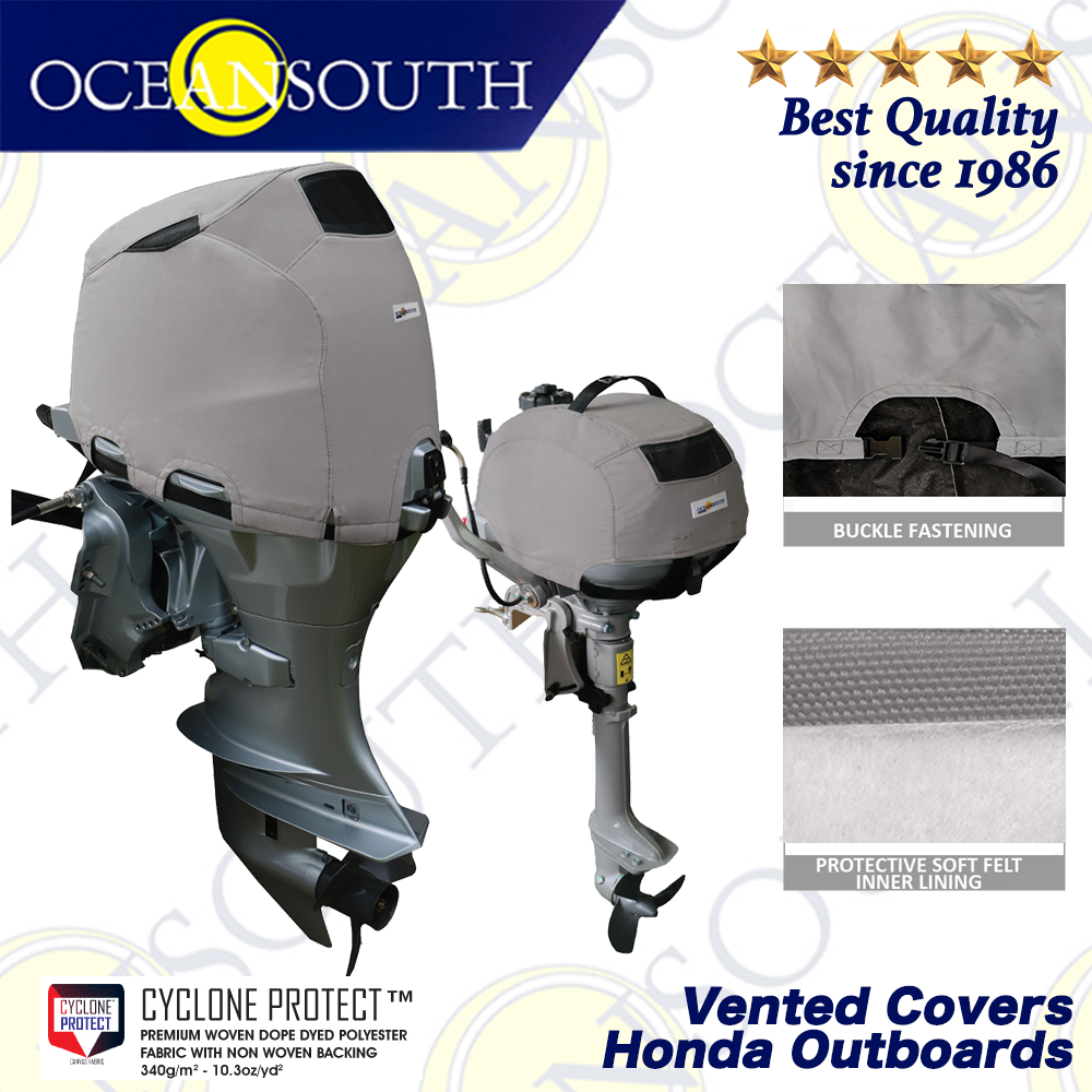Heavy Duty Waterproof and Suntan Hood Cover for Boat Yacht Marine QCZ14 Ship Dinghy QEES Boat Outboard Motor Cover Yacht Engine Cover