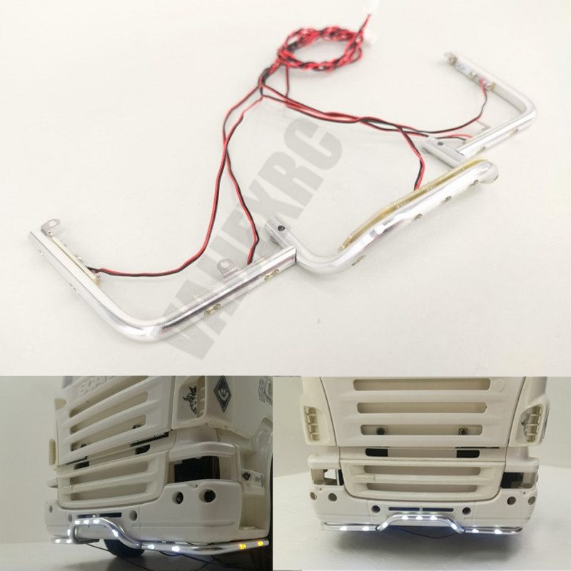 Front Bumper LED Light Bar DIY Kit 3V for <font><b>Tamiya</b></font> <font><b>1/14</b></font> Scale <font><b>RC</b></font> Scania R470 R620 image