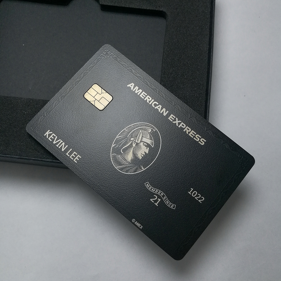 Metal card black card and production American express gift card 4