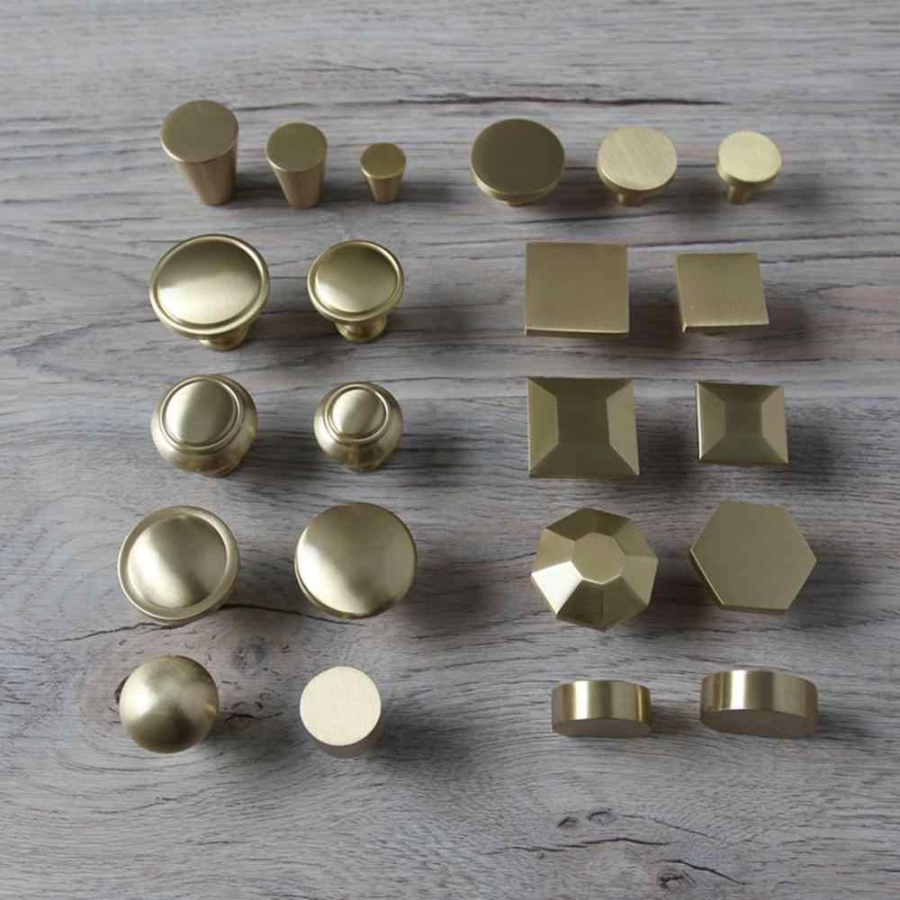 จีนเดี่ยวหลุมทองแดงจับลิ้นชักตู้ประตู Nordic American gold ทองแดงบริสุทธิ์ขนาดเล็ก