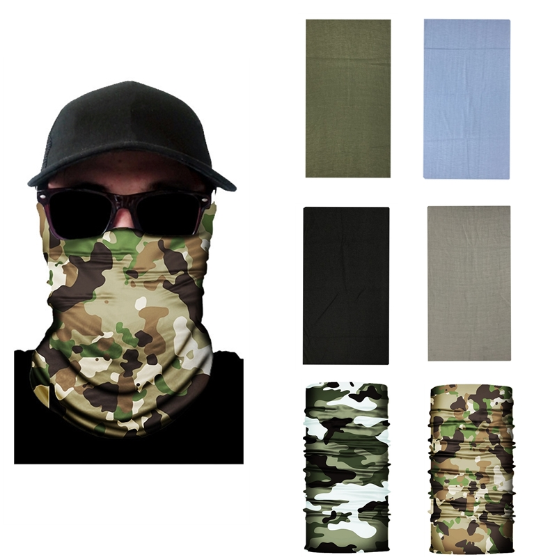 High-Jump Hiking Scarves Men Polyester Breathable Collar Windproof Anti UV Neck Cover Face Mask Fishing Hunting Cycling Bandana