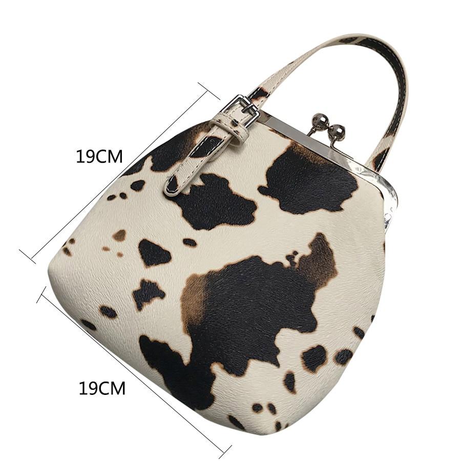 Mode-Kuh-Muster-Clip-Frauen-Handtaschen-Designer-Marke-Dame-Umh-ngetaschen-Luxus-PU-Weibliche-Schulter-Messenger