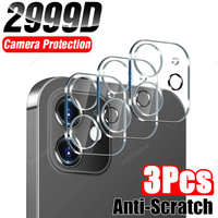 Protector de pantalla de vidrio templado para iPhone, Protector de lente para iPhone 11 Pro 12 12Pro Max Mini 11Pro 7 Plus 8 XS X XR, funda de película de cámara completa SE