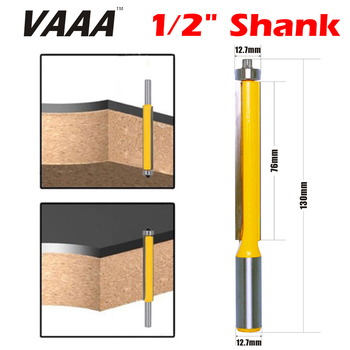 цена на VAAA 1Pc 1/2 SHANK long blade flush bit Flush Trim Router Bit End Bearing For Woodworking Cutting Tool