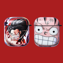 Cartoon One Piece Luffy Wireless Bluetooth Earphone Cute Case For Apple AirPods 2&1 Silicone Charging