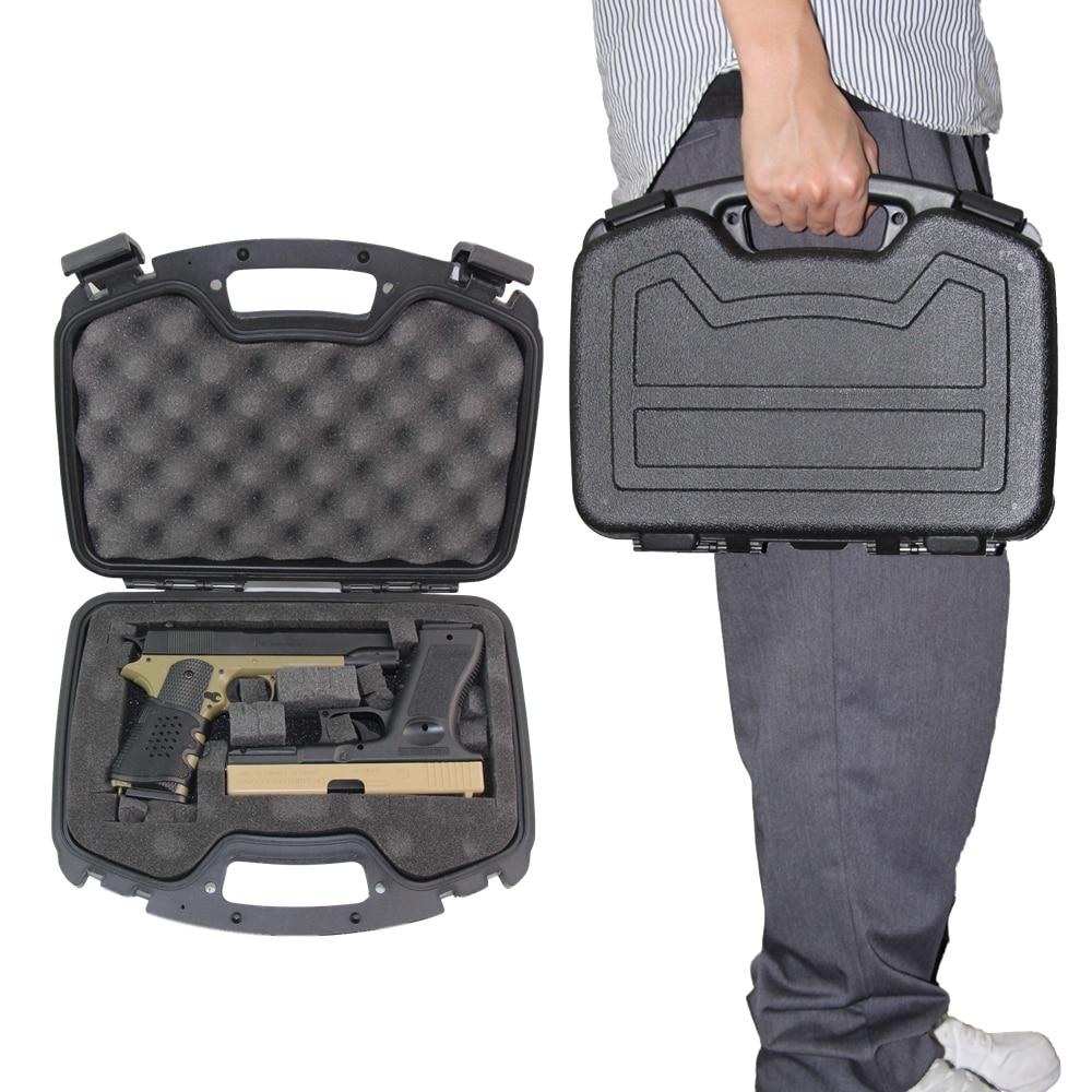 ABS Airsoft Pistol Box For Glock Colt Sig Sauer Handgun Storage Gun Guard Case Padded Foam Lining Gun Protector For Hunting