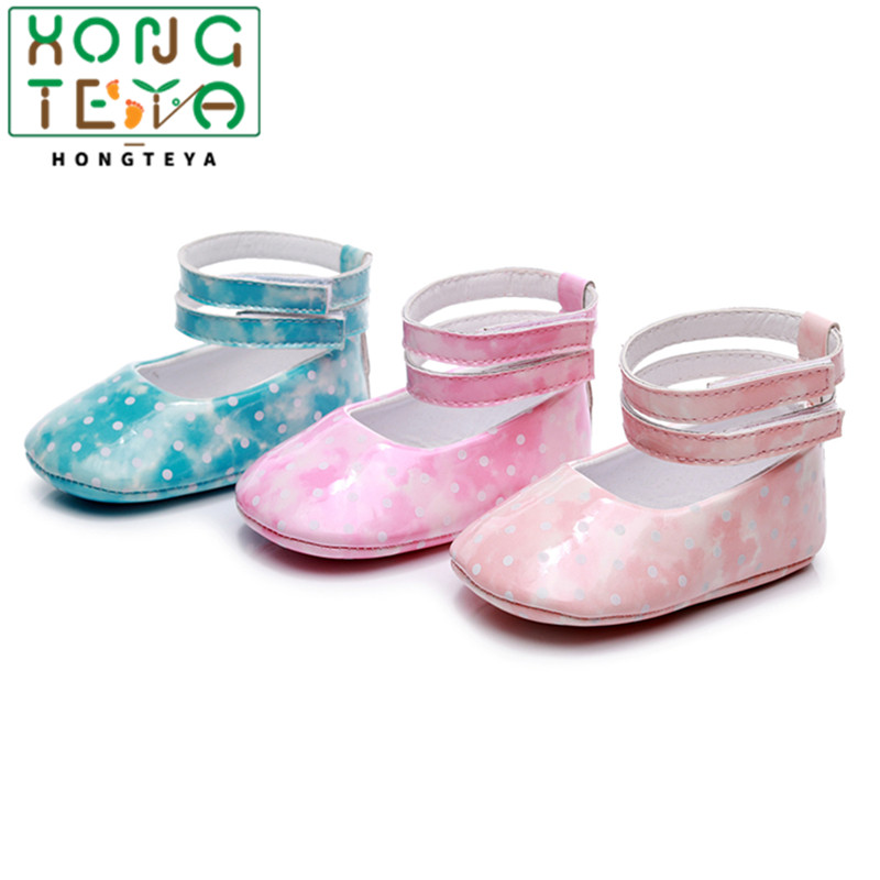 2020 New Baby Girl Shoes PU Leather Princess Baby Shoes Soft Sole First Walkers Newborn Moccasins For Girls Patent Leather