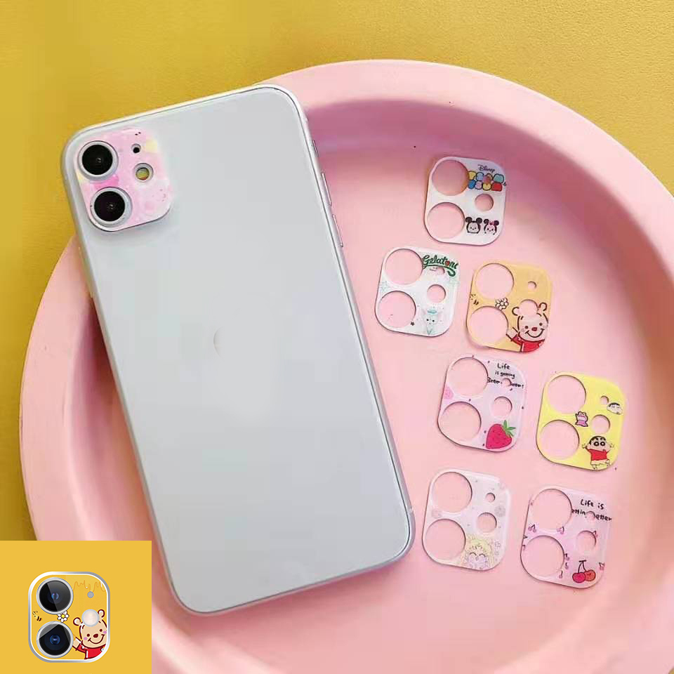 For IPhone 11 Pro New Cartoon Flower Camera Lens For IPhone 11 Pro MAX Camera Lens Cute Film For IPhone 11 Lens Protection