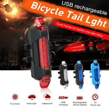 2020 Cycling Light Energy SavingBicycle Rear LED Light Bike Taillight Waterproof Riding Rear Light USB Charge Bike Headlight image