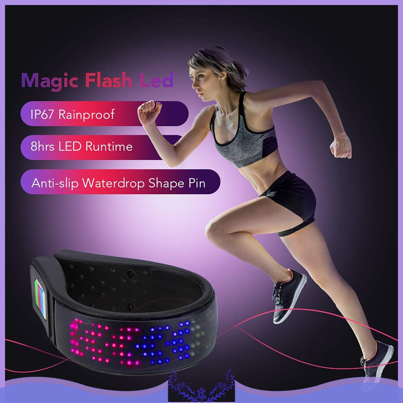 2PCS LED Shoe Clip Light USB Charging Warning Light For Night Running Cycling IP67 Waterproof Shoe Clip 11 Flashing Modes Safety